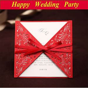 Korean style wedding invitations 2014 red personalized for Wedding invitation envelopes for sale