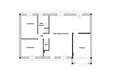 plan maison 2 chambres modele de maison a construire gratuit plan de maison n55