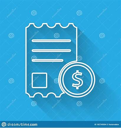 Check Shadow Paper Financial Bill Receipt Isolated