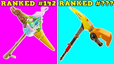 ranking  pickaxe  worst    pickaxes