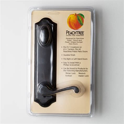 peachtree prado swing patio door handle set rubbed