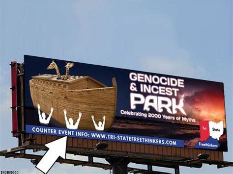 Amusement Park Billboard atheist billboard campaign trolls noahs ark theme park 750 x 563 · jpeg