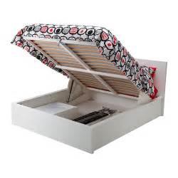 malm cadre lit coffre blanc 140x200 cm ikea