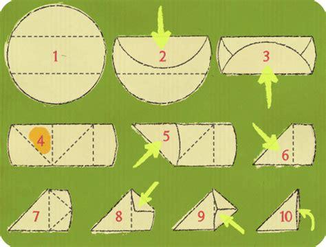 cuisiner feuille de brick plier une feuille de brick en triangle schéma sur le livre de la maison cuisiner