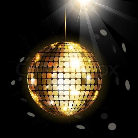shining disco ball stock vector colourbox