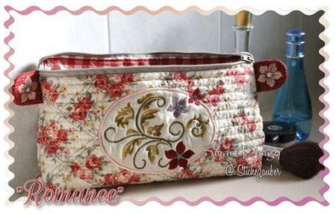 ith   hoop machine embroidery design romance   bag  zipper  lining  cm