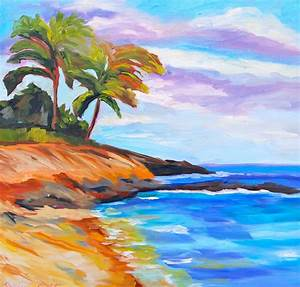 Original Oil Painting Fine Art Impressionist Hawaiian Beach