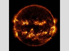 NASA captures Halloween cheer with jacko'lantern sun