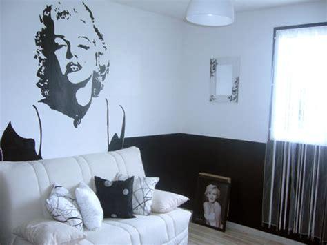 chambre noir et blanc chambre ado noir et blanc