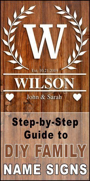signs diy family established monogram sign family  signs  signs wooden