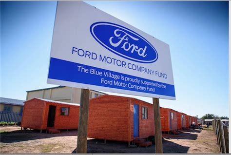 ford delivers  transit homes  uitenhage  blue