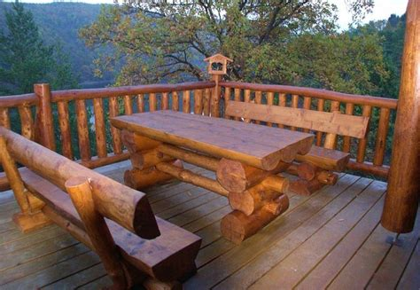 outdoor log furniture ideas thebestwoodfurniturecom