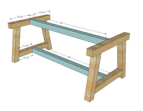 how to make table legs from wood ana white build a 4x4 truss beam table free and easy