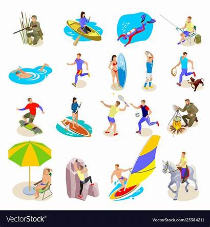 Activities Outdoor Vector Clip Icons Adventure Clipart