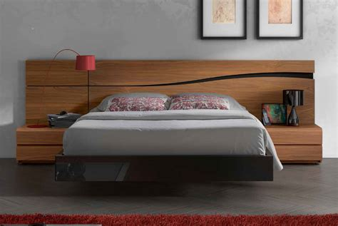 bedside drawers lacquered made in spain wood high end platform bed with