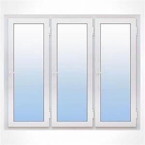 Porte fenetre pvc 3 vantaux vitrage phonique ou thermique for Porte fenetre 3 vantaux pvc