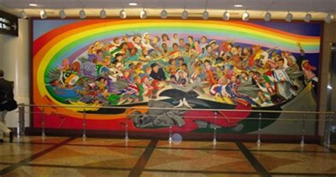 denver international airport murals location the children of the world of peace denver