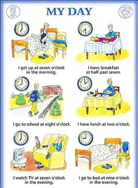 english phrases  describe  daily routines