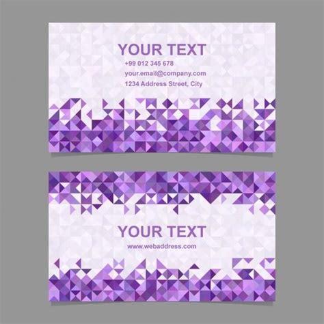 business card  purple polygonal shapes