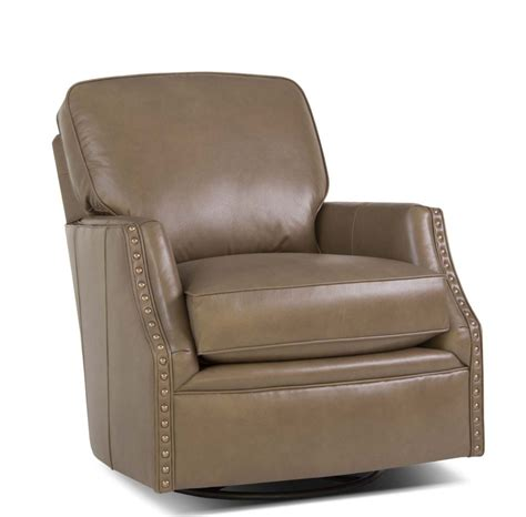 526 swivel glider leather chair amish oak furniture