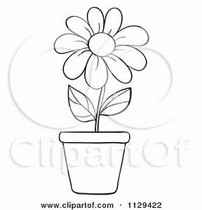 Royalty-Free (RF) Clipart of Flower Pots, Illustrations ...