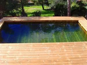 Grande Piscine Hors Sol : photos de piscines en bois hors sol sur mesure sans liner ~ Premium-room.com Idées de Décoration