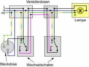 Schaltplan Einfache Ausschaltung : wechselschaltung mit steckdosen elektro schaltplan ~ Haus.voiturepedia.club Haus und Dekorationen