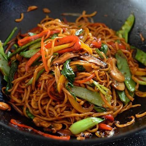 plat à cuisiner vegetable lo mein recette cuisiner plat chaud et entrée