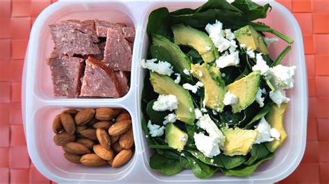 carb keto packed lunch ideas youtube