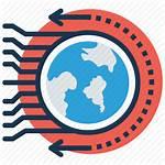 Icon Future Futuristic Planet Technology Discovery Icons