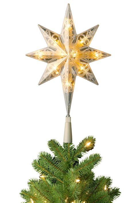 Christmas Tree 7ft Uk by Pre Lit Bethlehem Star Christmas Tree Topper Soft White