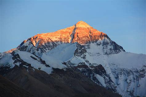 Summit of Mount Everest at sun light, tibet free image