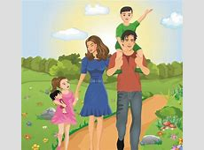 Vector Happy family together design elements 01 Free