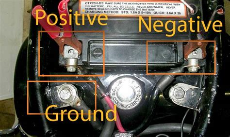 motorcycle starter jump terminals portable positive battery