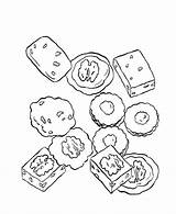 Coloring Pages Cookies Sheets Sweets Fudge Treats Birthday Printable Template Activity Templates Adult Bluebonkers Visit Popular sketch template