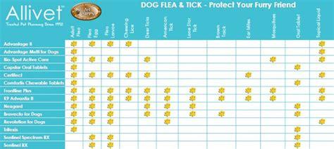 dog flea  tick product comparison chart allivet pet