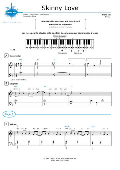 partition piano gratuite moderne