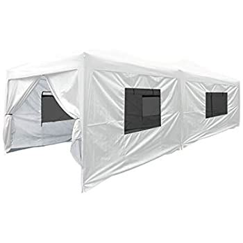 amazoncom palm springs    pop  blue canopy   side walls ez  set  sports outdoors