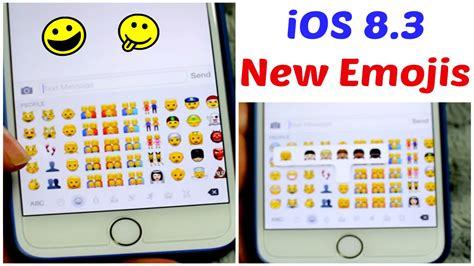 iphone 6 emojis new emojis ios 8 3 update iphone 6 plus