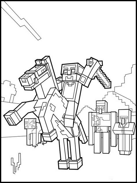 disegni da colorare minecraft scp disegni minecraft da colorare 10