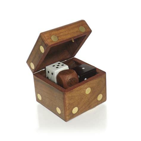 buy wooden dice trinket box
