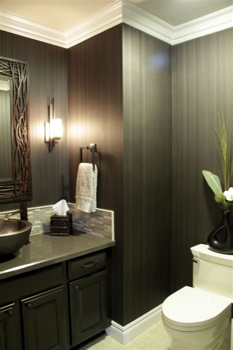 funky bathroom ideas powder room wallpaper that makes a grand statement photos