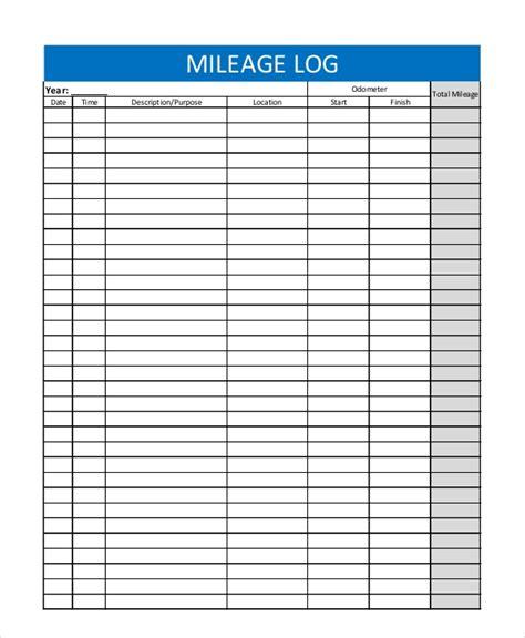 sample mileage tracker templates   excel
