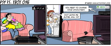 Ps4 Vs Xbox One Xbox One Actiontrip Ps4 Console
