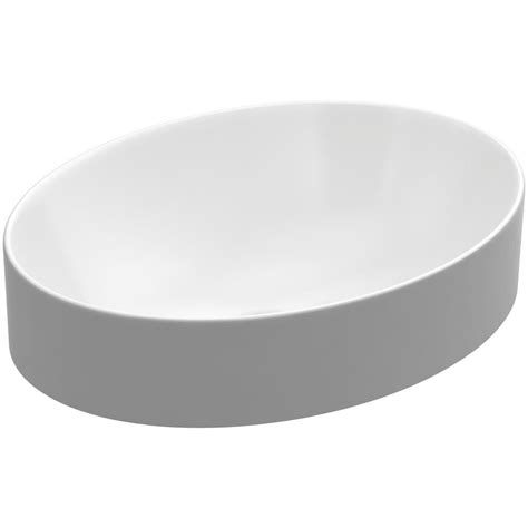 Oval Vessel Sink Home Depot by Kohler Vox Oval Vitreous China Vessel Sink In White With