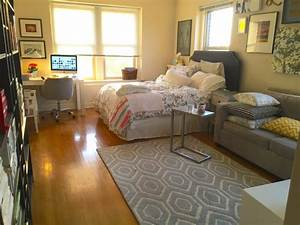 happy home arranging furniture in a tiny studio With arranging the best studio apartment layout