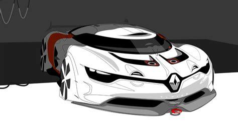 renault alpine concept art sketch desktop wallpaper
