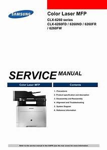 Samsung Clx 6260fw Color Laser Printer Service Manual