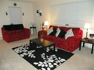 red and black living room decorating ideas red black and With black white and red living room decor