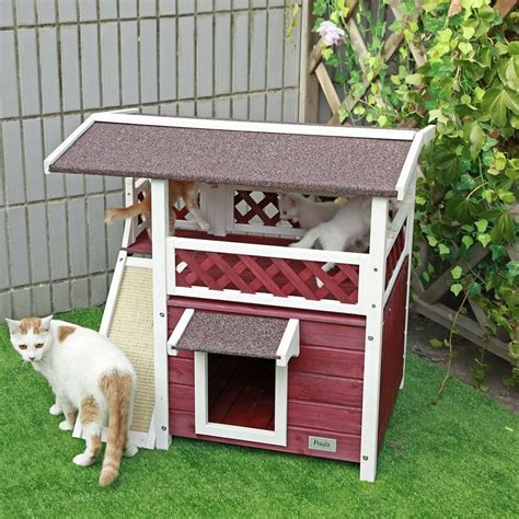 cat house  outdoor cats condo pet shelter weatherproof